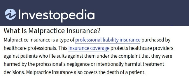 Malpractice insurance requirement for telemedicine practice setup