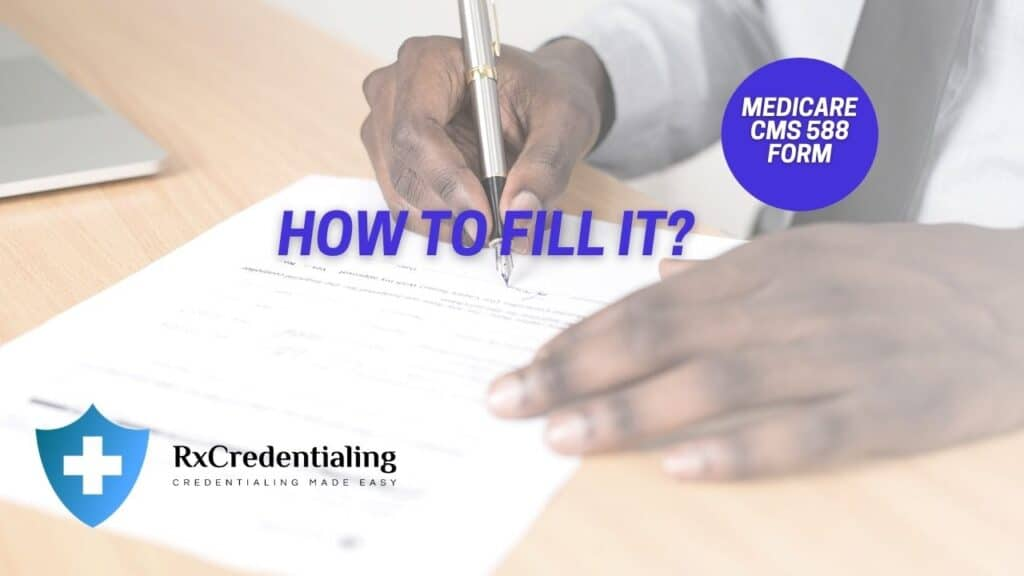 How to fill cms 588 medicare eft form?