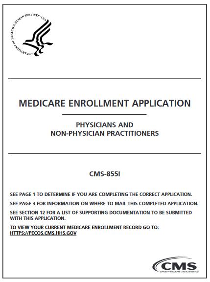 CMS-855i-medicare provider enrollment application